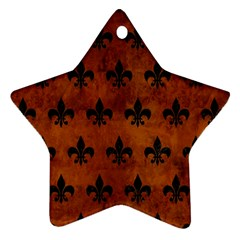RYL1 BK MARBLE BURL Star Ornament (Two Sides)