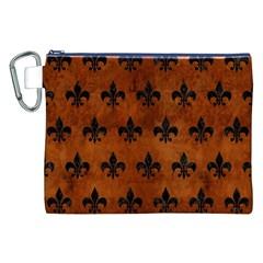 RYL1 BK MARBLE BURL Canvas Cosmetic Bag (XXL)