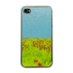 Poppy IV Apple iPhone 4 Case (Clear)