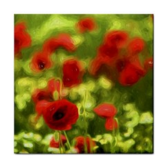 Poppy VI Tile Coasters