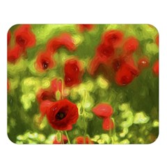 Poppy VI Double Sided Flano Blanket (Large)