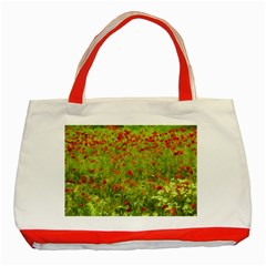 Poppy VII Classic Tote Bag (Red)