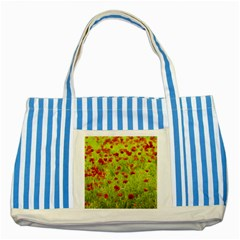 Poppy VIII Striped Blue Tote Bag