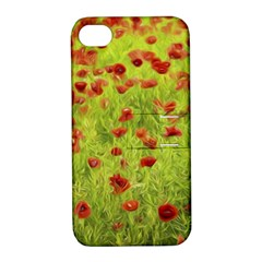 Poppy VIII Apple iPhone 4/4S Hardshell Case with Stand