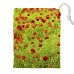 Poppy Viii Drawstring Pouches (xxl)