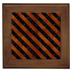 STR3 BK MARBLE BURL (R) Framed Tiles