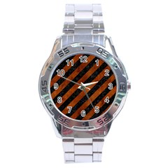 STR3 BK MARBLE BURL Stainless Steel Analogue Watch