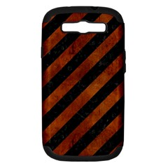 STR3 BK MARBLE BURL Samsung Galaxy S III Hardshell Case (PC+Silicone)