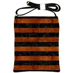 STR2 BK MARBLE BURL Shoulder Sling Bags