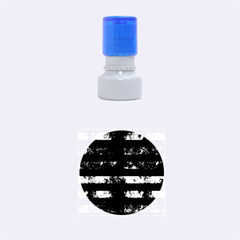 STR2 BK MARBLE BURL Rubber Round Stamps (Small)
