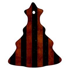 STR1 BK MARBLE BURL Christmas Tree Ornament (2 Sides)