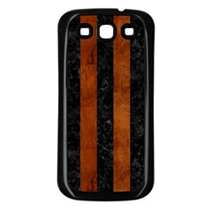 STR1 BK MARBLE BURL Samsung Galaxy S3 Back Case (Black)