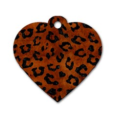 SKN5 BK MARBLE BURL Dog Tag Heart (Two Sides)