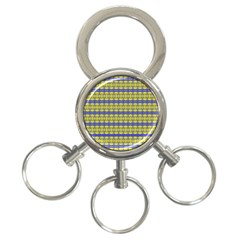 No Vaccine 3 Ring Key Chains