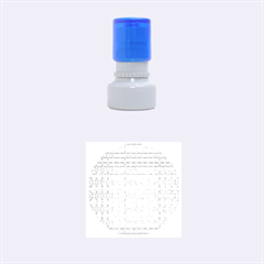 NO VACCINE Rubber Round Stamps (Small)