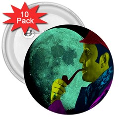Sherlock Holmes 3  Buttons (10 pack)