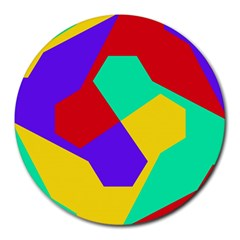 Colorful misc shapes                                                  Round Mousepad