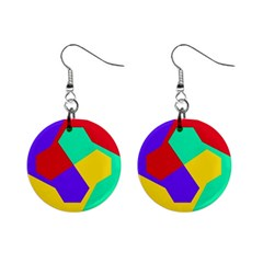 Colorful misc shapes                                                  1  Button Earrings