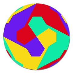 Colorful misc shapes                                                  			Magnet 5  (Round)