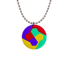 Colorful misc shapes                                                  1  Button Necklace