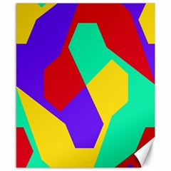 Colorful misc shapes                                                  Canvas 8  x 10