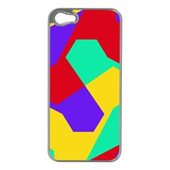 Colorful misc shapes                                                  Apple iPhone 5 Case (Silver)