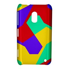 Colorful misc shapes                                                  			Nokia Lumia 620 Hardshell Case