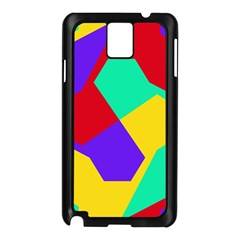Colorful misc shapes                                                  			Samsung Galaxy Note 3 N9005 Case (Black)