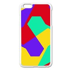 Colorful misc shapes                                                  Apple iPhone 6 Plus/6S Plus Enamel White Case