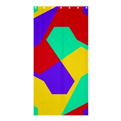 Colorful misc shapes                                                  	Shower Curtain 36  x 72