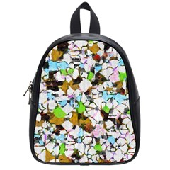 Brush strokes on a white background                                                   School Bag (Small)