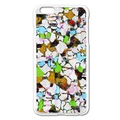 Brush strokes on a white background                                                   Apple iPhone 6 Plus/6S Plus Enamel White Case