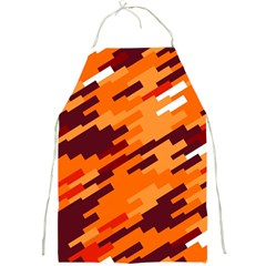 Brown orange shapes                                                    			Full Print Apron