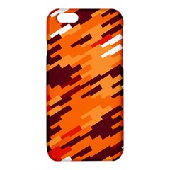 Brown orange shapes                                                    			iPhone 6/6S TPU Case