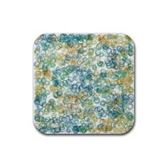 Fading shapes texture                                                    			Rubber Square Coaster (4 pack