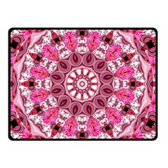 Twirling Pink, Abstract Candy Lace Jewels Mandala  Double Sided Fleece Blanket (Small)