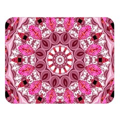 Twirling Pink, Abstract Candy Lace Jewels Mandala  Double Sided Flano Blanket (large)