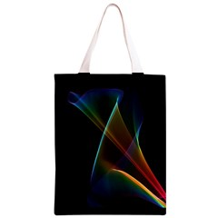 Abstract Rainbow Lily, Colorful Mystical Flower  Classic Light Tote Bag