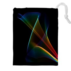 Abstract Rainbow Lily, Colorful Mystical Flower  Drawstring Pouches (xxl)
