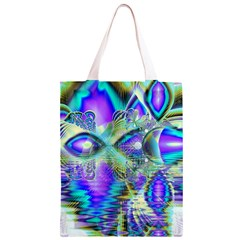 Abstract Peacock Celebration, Golden Violet Teal Classic Light Tote Bag