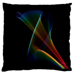 Abstract Rainbow Lily, Colorful Mystical Flower  Large Flano Cushion Case (One Side)