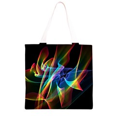 Aurora Ribbons, Abstract Rainbow Veils  Grocery Light Tote Bag