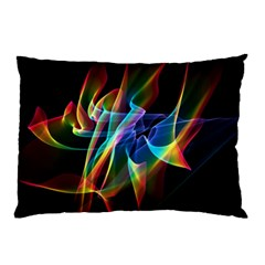 Aurora Ribbons, Abstract Rainbow Veils  Pillow Case (Two Sides)