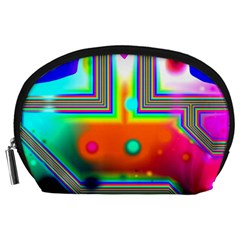 Crossroads Of Awakening, Abstract Rainbow Doorway  Accessory Pouches (Large)