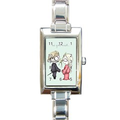 As You Wish Rectangle Italian Charm Watch