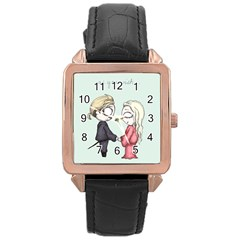 As You Wish Rose Gold Leather Watch