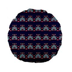 Hearts pattern                                                      Standard 15  Premium Flano Round Cushion