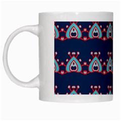 Hearts pattern                                                      White Mug