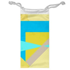 Blue yellow shapes                                                        Jewelry Bag