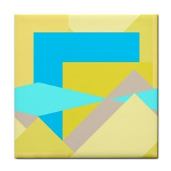 Blue yellow shapes                                                        Face Towel